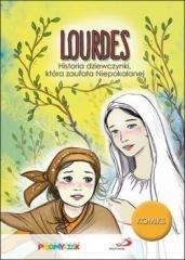 Lourdes. Historia dziewczynki, - okładka książki