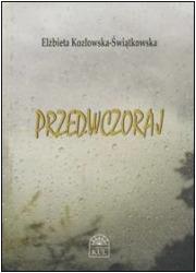 Przedwczoraj - okładka książki