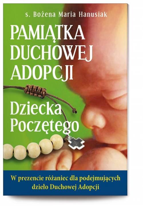 Pamiątka Duchowej Adopcji Dziecka - okładka książki