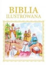 Biblia ilustrowana (biało-złota) - okładka książki