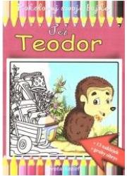 Jeż Teodor - kolorowanka - okładka książki