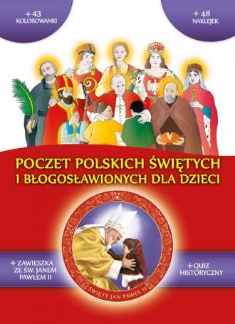 Poczet polskich świętych i błogosławionych - okładka książki