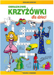 Obrazkowe krzyżówki dla dzieci. - okładka książki