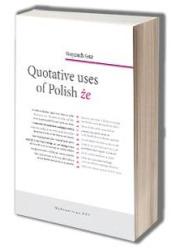 Quotative uses of Polish że - okładka książki