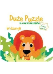 Duże puzzle dal małych paluszków - okładka książki