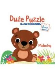 Duże puzzle dla małych paluszków - okładka książki