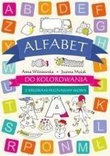 Alfabet do kolorowania- z kredkami - okładka książki