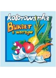 Bukiet z warzyw - kolorowanka - okładka książki