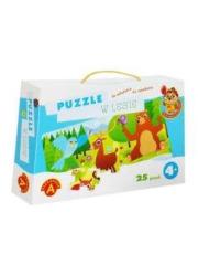 Puzzle w lesie - Sówka mądra główka - okładka książki