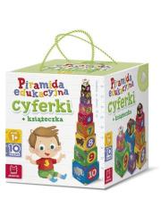 Piramida edukacyjna Cyferki + książeczka - okładka książki