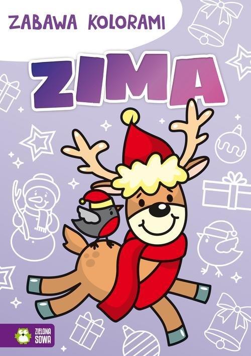 Zabawa kolorami Zima - okładka książki