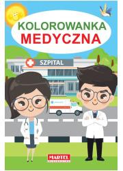 Kolorowanka medyczna - okładka książki