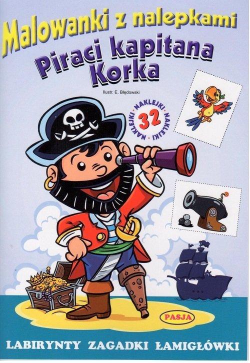 Piraci kapitana korka malowanki - okładka książki