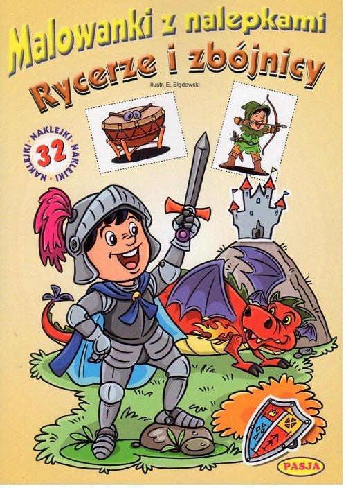 Rycerze i zbójnicy malowanki z - okładka książki
