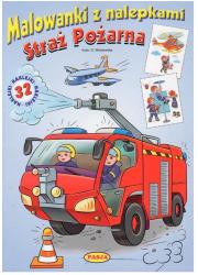 Straż pożarna malowanki z nalepkami - okładka książki