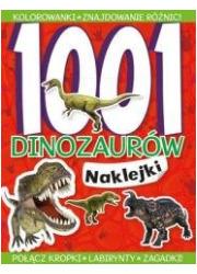 1001 dinozaurów Naklejki - okładka książki