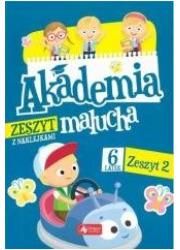 Akademia malucha dla 6-latka. Zeszyt - okładka książki