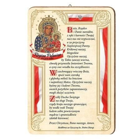 Matka Boża Królowa Polski z modlitwą - zdjęcie dewocjonaliów