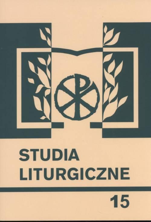 Studia liturgiczne. Tom 15. Seria: - okładka książki