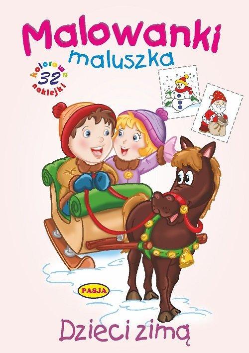 Dzieci zimą. Malowanki maluszka - okładka książki