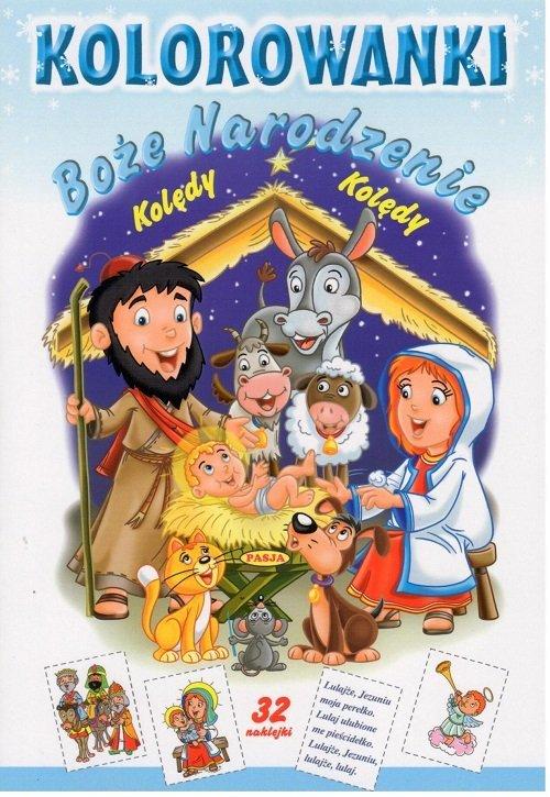 Kolorowanki Kolędy Boże Narodzenie - okładka książki