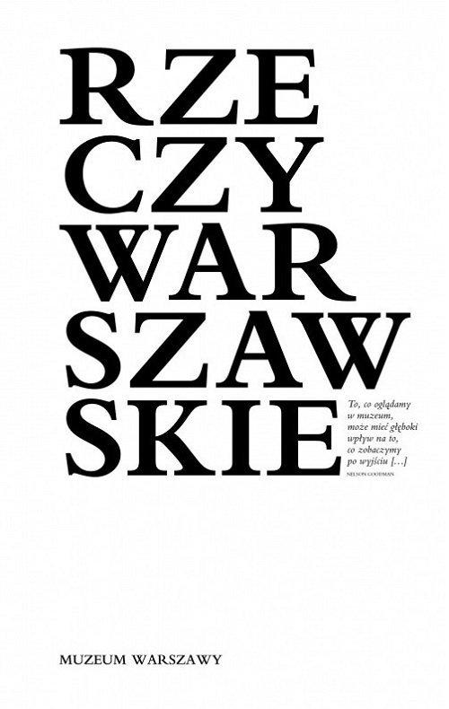 Rzeczy warszawskie - okładka książki