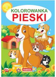 Kolorowanka Pieski - okładka książki