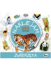 Zwierzęta naklejam 285 naklejek - okładka książki