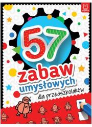 57 zabaw umysłowych dla przedszkolaków - okładka książki