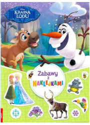 Disney kraina lodu zabawy z naklejkami - okładka książki
