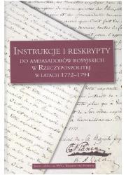 Instrukcje i reskrypty do ambasadorów - okładka książki