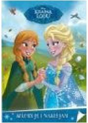 Kraina lodu koloruję i naklejam - okładka książki