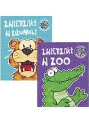 Pakiet: Ruchome obrazki 4 Zwierzaki - okładka książki