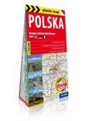 Plastic map Polska 1:700 000 mapa - okładka książki
