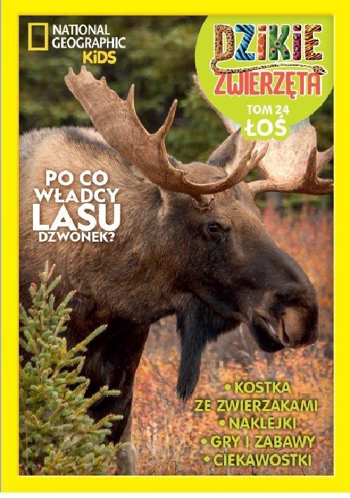 Dzikie Zwierzęta. 24 Łoś. Łoś - okładka książki