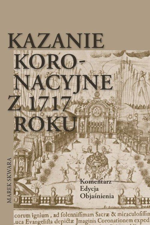 Kazanie koronacyjne z 1717 roku. - okładka książki