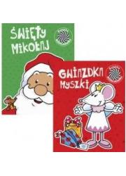 Pakiet: Ruchome obrazki 3 Św. Mikołaj/Myszka - okładka książki