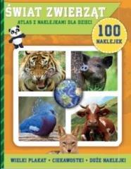 100 naklejek. Świat zwierząt - okładka książki