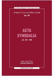 Acta Synodalia T.XII - od 553 do - okładka książki