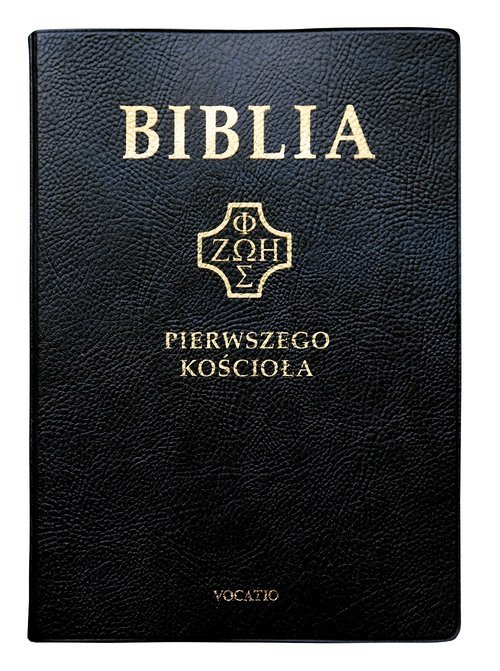 Biblia Pierwszego Kościoła czarna - okładka książki