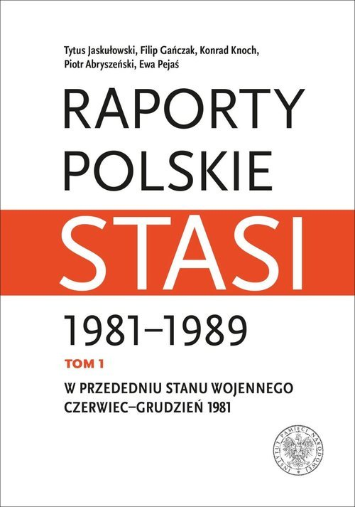 Raporty polskie Stasi 1981-1989. - okładka książki