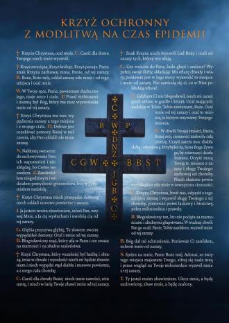 Obraz z krzyżem i modlitwą - okładka książki