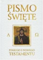 Pismo Święte ST i NT - białe ze - okładka książki