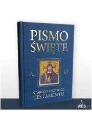 Pismo Święte ST i NT granat z paginatorami - okładka książki
