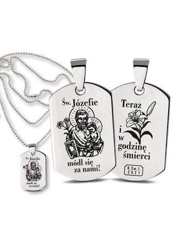 Medalik Nieśmiertelnik Świętego - zdjęcie dewocjonaliów