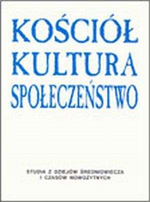 Kościół - kultura - społeczeństwo - okładka książki