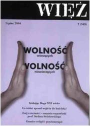 Więź nr 7/2004. Lipiec - okładka książki