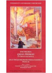 Encyklika Quas primas - okładka książki